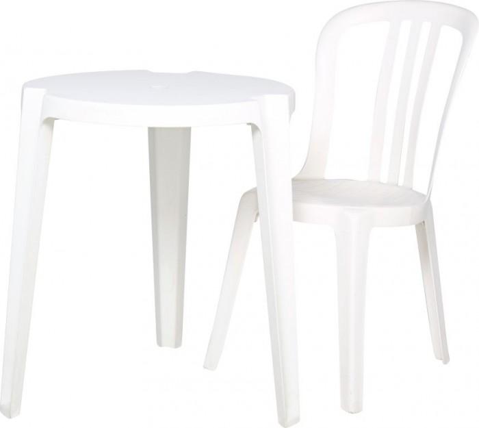 chaise ronde en plastique