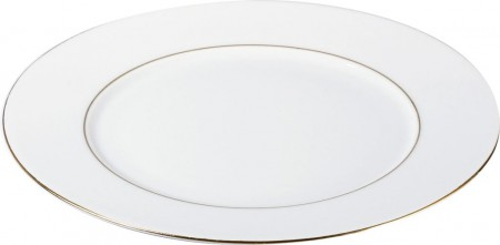 Assiette plate 27cm Filet or porcelaine