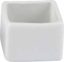 Pot carré  porcelaine 4x4x3cm