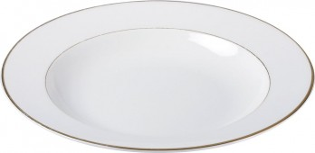 Assiette creuse Filet or porcelaine